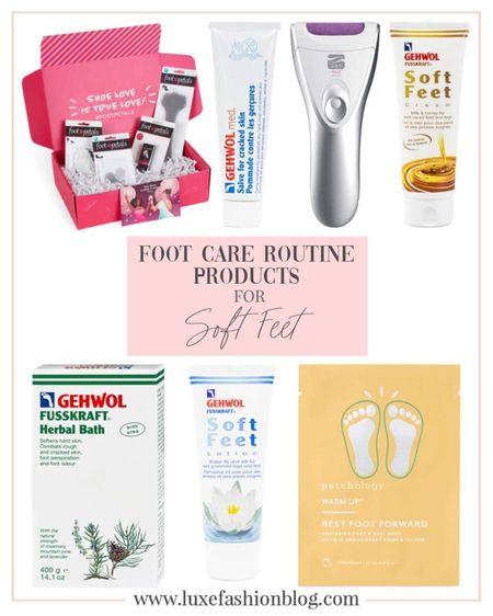 Foot Care Routine Products For Soft Feet http://liketk.it/3h04h @liketoknow.it #liketkit #LTKbeauty #LTKstyletip #LTKDay