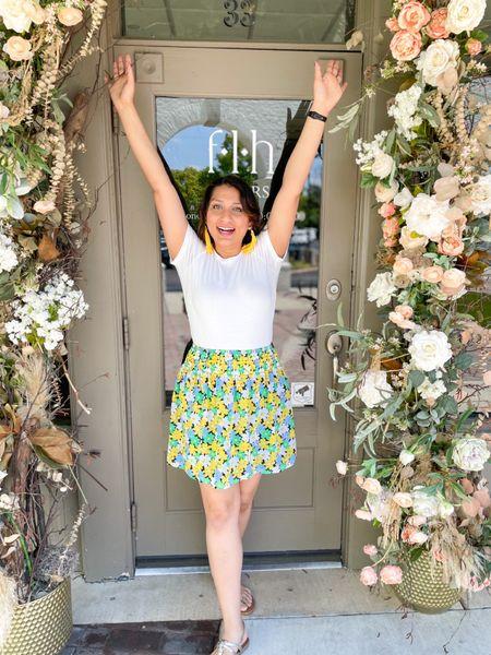 Summer floral skirt   #LTKunder50 #LTKstyletip #LTKSeasonal