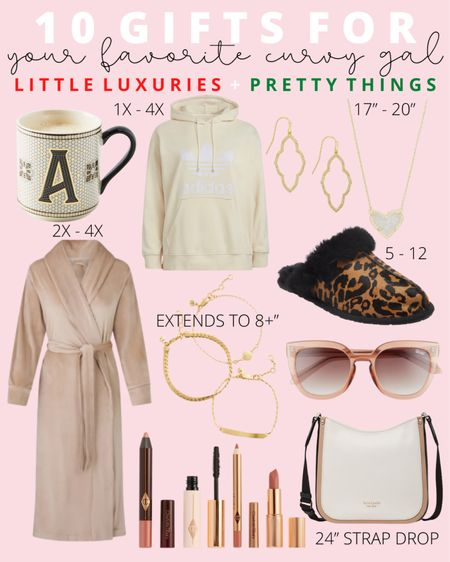 These holiday gifts are all plus size friendly and curated just for curvy girls! From plus size clothing to crossbody bags for plus sizes, these gifts are little luxuries she will love.   #LTKcurves #LTKHoliday #LTKGiftGuide