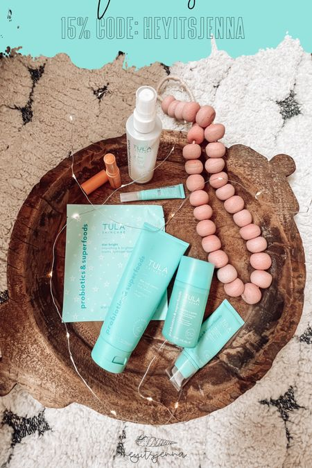 Save 15% with code HEYITSJENNA at Tula! Skincare products  Sheet mask face mask Under eye balm highlighter Lip balm and face mist   #LTKHoliday #LTKGiftGuide #LTKbeauty