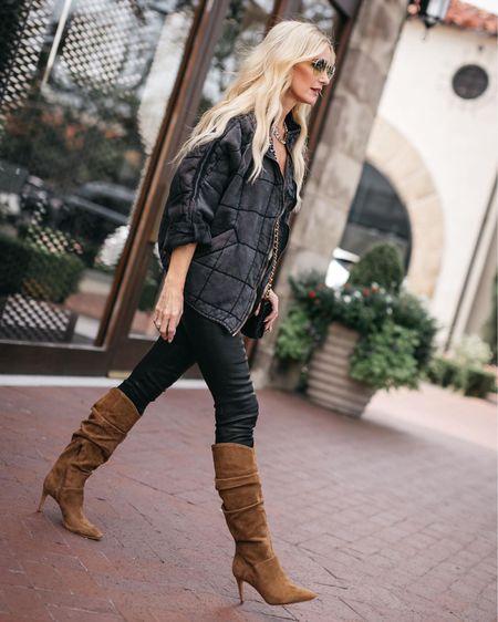 Love these knee-high boots for fall and winter 🖤  #LTKunder50 #LTKunder100 #LTKshoecrush