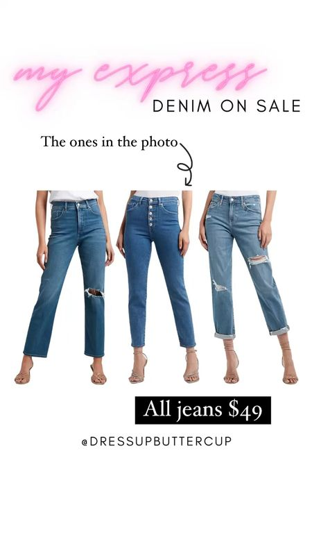 Express denim all $49 right now! Such a good deal on some good denim pieces. Wore the jeans in the middle yesterday & they were super flattering   #LTKsalealert #LTKunder50 #LTKstyletip