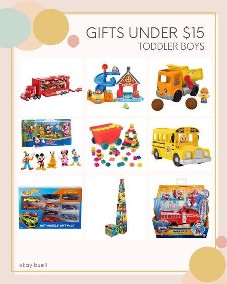 So many cute toddler boy gifts under $15 ❤️  #LTKkids #LTKGiftGuide #LTKHoliday