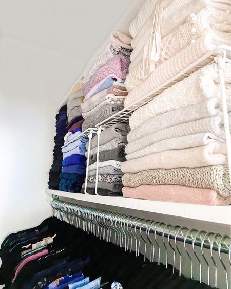 Sweater folding competition, anyone? . . . .  http://liketk.it/2UoBM #liketkit @liketoknow.it #StayHomeWithLTK #LTKhome #LTKunder50   #organize #organized #organizedcloset #closetorganization #closet #shelves #folds #folding #sweaters #clothes