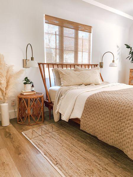 Mid century modern boho bedroom! Neutral living for a neutral home   #LTKhome #LTKwedding #LTKstyletip