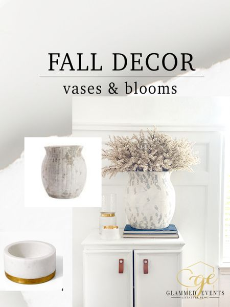 Fall Decor. Vase and bloom decor inspiration for fall.  Vases that look great in every season.  Fall blooms!   #rStheCon #StayHomeWithLTK #LTKhome