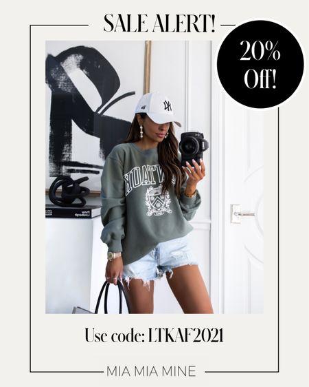 LTK Day Sale picks Abercombie sale - take 20% off with code LTKAF2021  Abercombie sweatshirt on sale Wearing an XS  #LTKunder100 #LTKDay #LTKsalealert