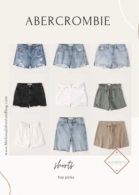 Abercrombie shorts under $30  High waisted shorts, high waisted denim, denim shorts, high waisted mom shorts   #LTKunder50 #LTKstyletip #LTKsalealert