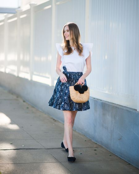 Wednesday ruffles, patterns, and bows 🎀🎀 // 📷: @torrancecoombs   http://liketk.it/2ros9 #liketkit @liketoknow.it #TheAListStyle #onthego #summerstyle
