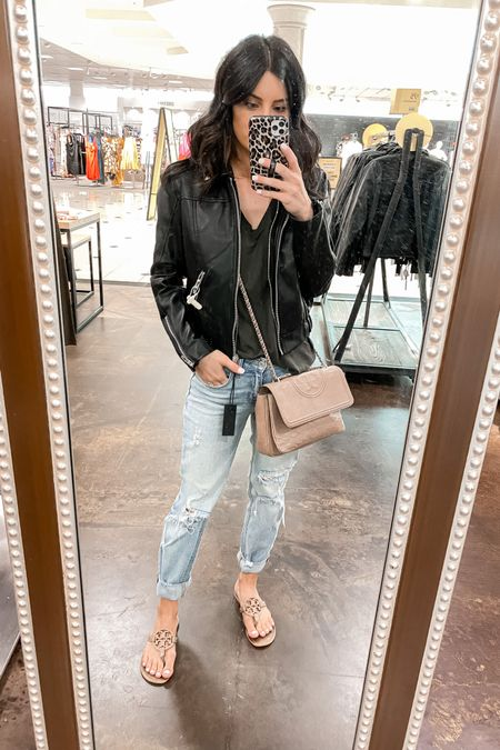 http://liketk.it/3jQyb #liketkit @liketoknow.it  hooded leather jacket. Hoodie is removable. Tts (wearing xs) size up if you live somewhere cold for you know you're going to wear chunky sweaters underneath