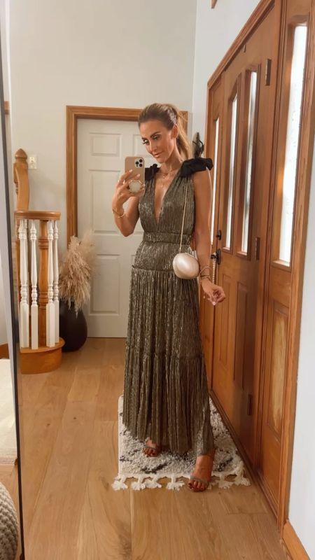 Most gorgeous sparkly dress wear it w low plunge or button up, elastic belt maxi length- xs evening dress, cocktail dress, wedding dress   #LTKSeasonal #LTKHoliday #LTKwedding