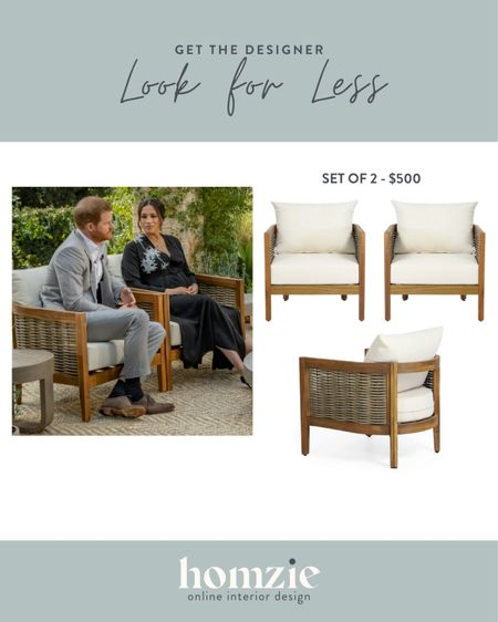 The outdoor chairs from the Meaghan & Harry tell all with Oprah are finally back in stock! These woven outdoor accent chairs are a 10/10 on style and price! Perfect for a patio or deck these cushioned outdoor chairs are the hottest of the season!   #LTKhome #LTKsalealert