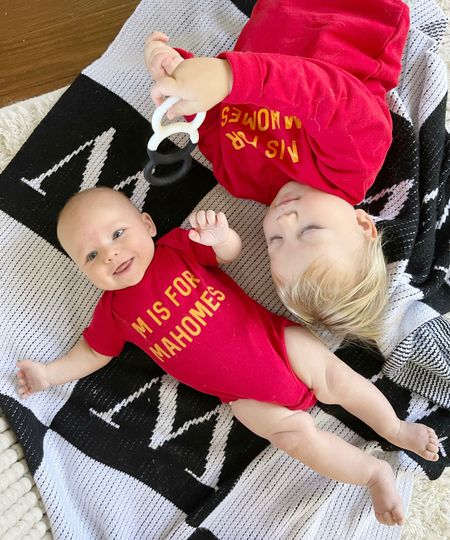 B O Y S \ We ready for the game today!🏈🏈 How cute are these tops?!!  #babyboy #toddler #chiefs #nfl #gameday #football  #LTKfamily #LTKSeasonal #LTKbaby