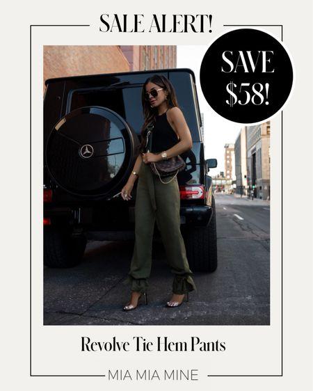 Revolve jogger pants on sale now! Summer outfit ideas   #LTKstyletip #LTKunder100 #LTKsalealert
