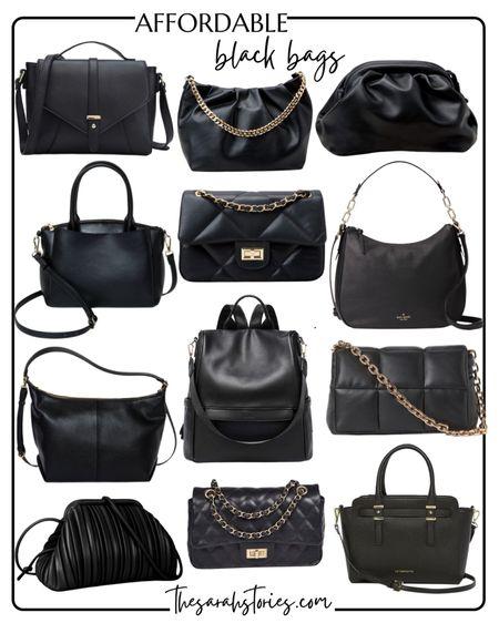 Affordable black midsize bags   #LTKunder50 #LTKunder100 #LTKstyletip