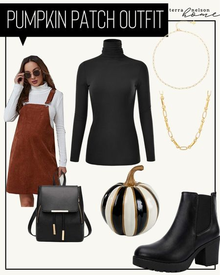 Fall outfit, fall dress, 90's outfit, fall boots, booties, backpack purse, necklace,   #LTKunder100 #LTKstyletip #LTKSeasonal