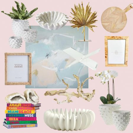 Some favorite home decor finds & accessories. I love potted orchids, abstract art and beautiful decorative bowls and geodes.   #LTKhome