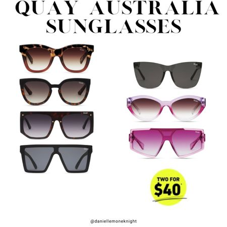 Summer is here and that means we need sunglasses for every day of the week!!! Quay Australia is doing 2 pairs for just $40 right now so check out my picks!!! http://liketk.it/3giEu #liketkit @liketoknow.it #LTKunder50 #LTKsalealert
