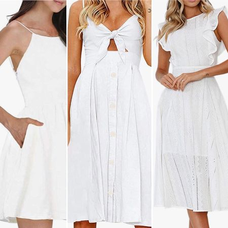 Summer time favorites- LWD The little white dress 🤍   You can instantly shop all of my looks by following me on the LIKEtoKNOW.it shopping app http://liketk.it/3hQez #liketkit @liketoknow.it #littlewhitedress #summerdress #whitedress #summer2021 #amazondress #weddingguestdress #babyshowerdress #sundress #primeship #primedress #simplestyle