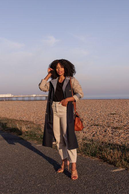 Colourblock trench coat (mac) for early Autumn, great transitional look  #LTKeurope #LTKstyletip #LTKSeasonal