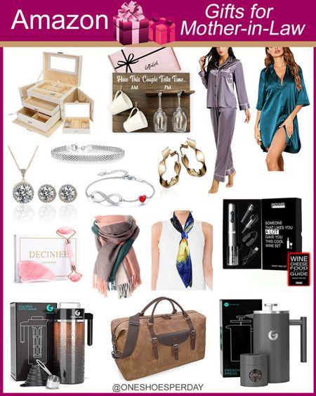 Amazon Fashion  Gifts For Mother-in-Law          http://liketk.it/3pRPV @liketoknow.it #liketkit #LTKGiftGuide #LTKHoliday #LTKSeasonal #LTKsalealert #LTKshoecrush #LTKstyletip #LTKfamily #LTKunder50 #LTKtravel #LTKworkwear Christmas Gifts | Gifts for her | Gift guide | Pajamas | Beauty | Jewerly Box | Bracelets | Jewerly | Weekender Bag | Wine Gift Set | Coffee Maker