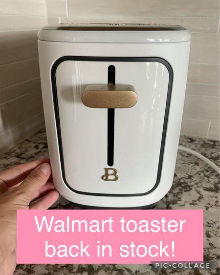 Walmart toaster back in stock! Sell out risk #walmart #walmartfinds #walmarthome #kitchen #homedecor #home   #LTKhome #LTKunder50 #LTKsalealert