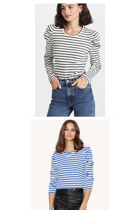 The stripe top everyone asks about! Wearing a small