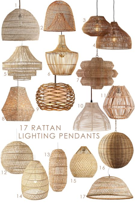 Upgrade your lighting with a gorgeous rattan  hanging fixture! A new look for any space!   #pendantlight #hanginglight #wovenpendant #rattanpendant #raffia #ceilinglight #lightingfixture    #LTKSeasonal #LTKstyletip #LTKhome