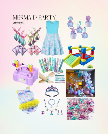 Mermaid Party Decorations and essentials all Amazon finds   #mermaidparty #mermaiddecor #ballonarch  #LTKhome #LTKunder50 #LTKkids