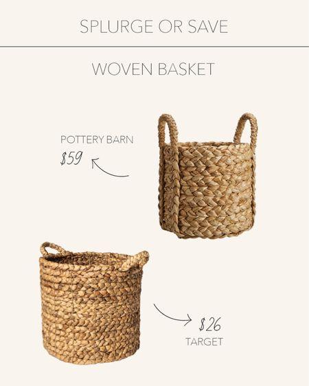 Splurge or Save   Woven baskets perfect for home organization and decor details🧺   #LTKhome #LTKstyletip #LTKunder50
