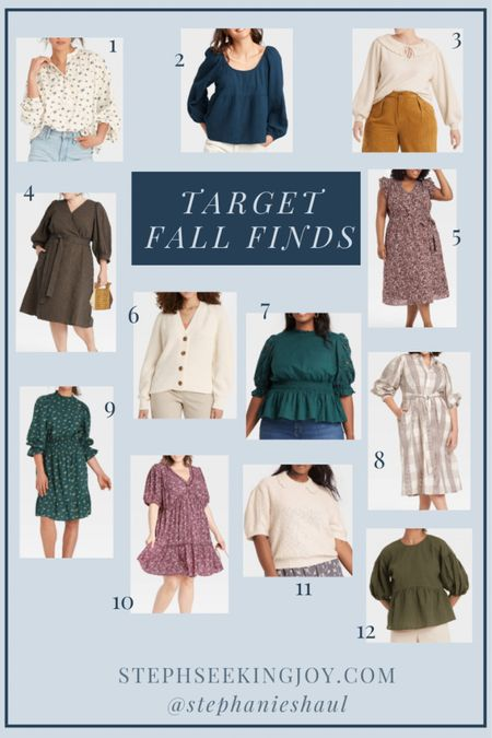 Target fall finds & tops, sweaters, and dresses from Target that are perfect for fall (in sizes XS-4X)!  #LTKunder50 #LTKcurves #LTKSeasonal