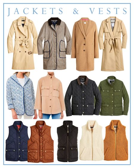 Preppy jackets and vests for fall   #LTKunder100 #LTKSeasonal