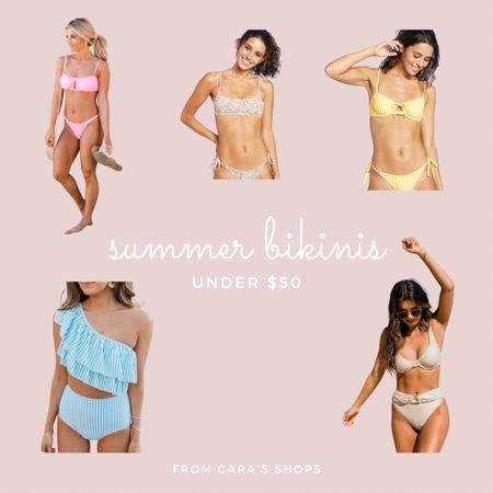 summer bikini swimsuit roundup! all bikinis under $50! 👙🌞 #LTKunder50 #LTKswim #LTKtravel http://liketk.it/3gOkB #liketkit @liketoknow.it Shop your screenshot of this pic with the LIKEtoKNOW.it shopping app
