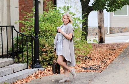 Talking all about the white trends for fall over on #CAAB this morning! 🎉 since its not fall like at all here in Western Pa I'm talking about how to shop your closet and get those pieces to make a capsule collection until it does get cold! Remember this dress from last spring? It's made quite a new refresh in my closet! I'm also linking up my new booties right here 👉🏻 http://liketk.it/2sZAE they go with EVERYTHING and they are so darn comfy! #liketkit @liketoknow.it