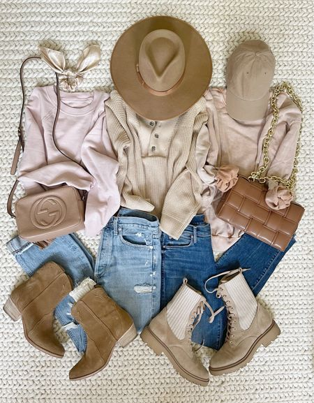 F A S H I O N \ #fall neutrals! Mix and match all of these pieces🍂  #sweater #jeans #booties #fallfashion #falloutfit  #LTKunder50 #LTKSeasonal #LTKstyletip