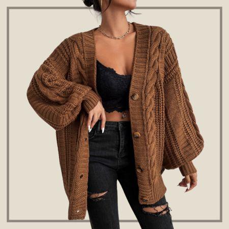 Bishop sleeve button up cardigan  #LTKstyletip #LTKunder50