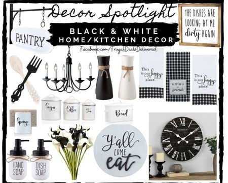 Kitchen living room bedroom black and white farmhouse chic contemporary modern decor!   Screenshot this pic to get shoppable product details with the LIKEtoKNOW.it shopping app make sure you follow FrugalDealsDelivered for more ideas and collage inspiration!    http://liketk.it/3cJuX #liketkit @liketoknow.it #LTKsalealert #LTKhome #LTKfamily @liketoknow.it.home