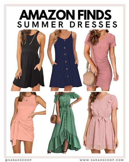 Check out these stylish dresses! 👗✨  amazon | summerfashion | fashion | trends | trending | amazon prime | summer   @sarahscoop www.sarahscoop.com  #LTKunder100 #LTKunder50