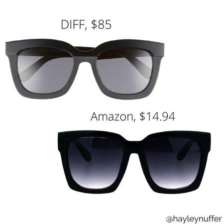 DIFF sunglasses vs Amazon dupe look for less  http://liketk.it/3e4Wh #liketkit @liketoknow.it #LTKunder50 #LTKstyletip