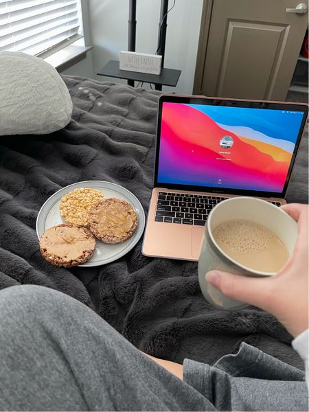 Such a cozy morning doing schoolwork. Highly recommend these snacks and coffee. All healthy options and they're so good!  #LTKfit #LTKbacktoschool #LTKSeasonal