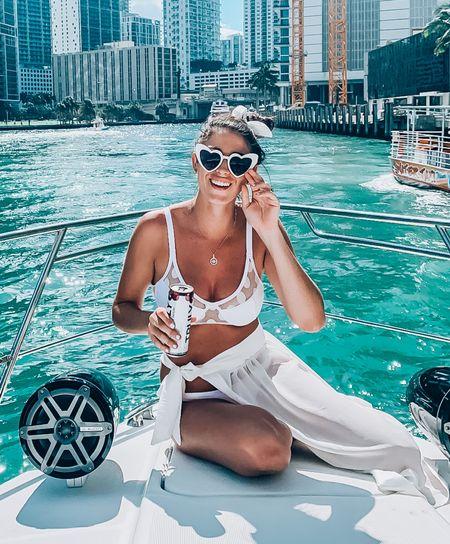 BACHELORETTE OUTFITS / BIKINIS 🤍 for the bride to be.  Beach bachelorette party Bridal looks White outfits for the bride White bikinis  White cover up's    #LTKunder50 #LTKunder100 #LTKswim