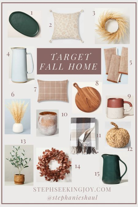 Fall home & decor finds from Target  #LTKhome #LTKSeasonal #LTKunder50