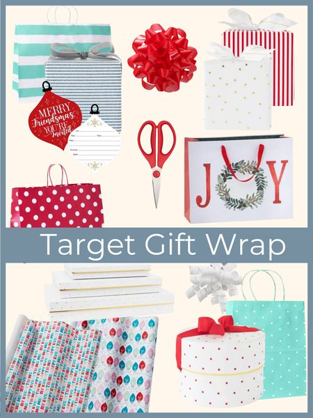 Holiday gift wrap essentials from Target!        Gift wrap , Christmas wrap , holiday gifts , target Christmas , wrapping essentials , #ltkunder50 #ltkstyletip  #LTKhome #LTKHoliday #LTKGiftGuide