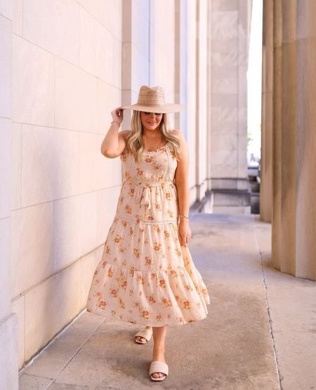 This floral dress is perfect for any season!  Red dress, summer style, vacation style, vacation dress   #LTKunder50 #LTKcurves #LTKstyletip