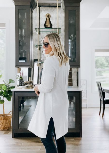 This duster cardigan is so pretty with its knit detail. I love the subtle pattern on the back and the slits on the side. It's so soft too.   Cream cardigan, summer cardigan, layers, Abercrombie and Fitch.     #LTKtravel #LTKunder100 #LTKstyletip