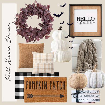 Fall Home decor! Neutral Halloween decorations, Hello Fall, pumpkins   #LTKhome #LTKSeasonal #LTKHoliday