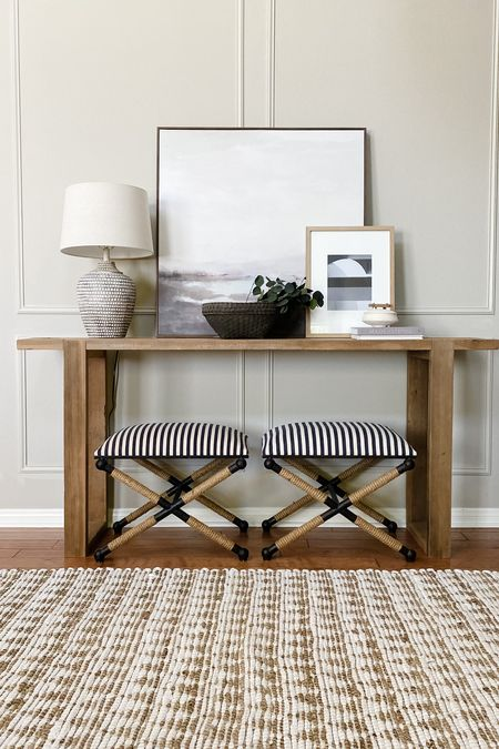 """Find the perfect rug on rugs.com and preview it in your space using the """"See this in my room"""" feature. I rounded up a few good options for any entry way!"""
