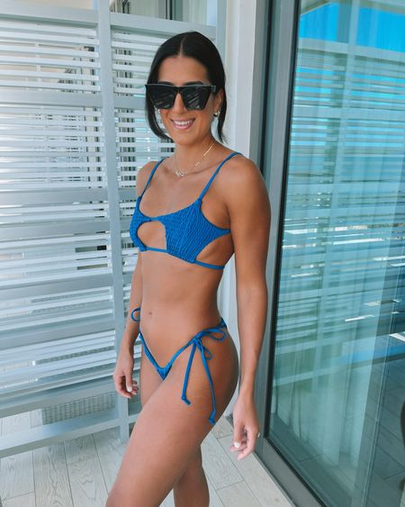 Amazon fashion bikini and sunglasss (medium)   #LTKunder50 #LTKswim #LTKtravel