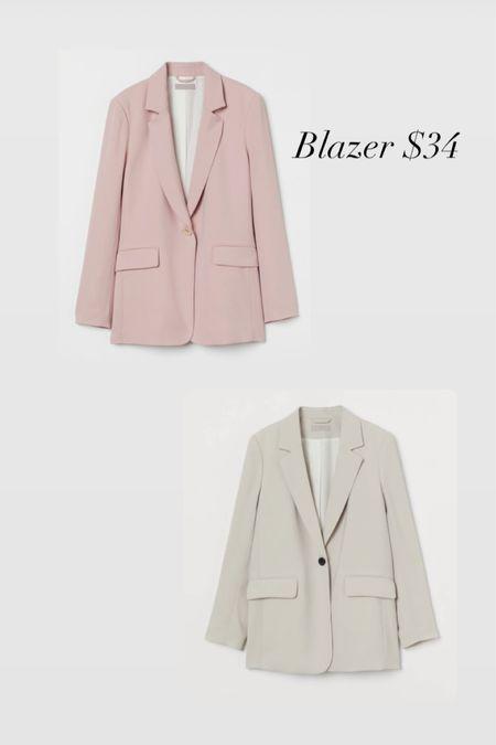 Affordable blazers! Pink blazer hm cream blazer workwear summer fashion fall fashion   #LTKworkwear #LTKunder50 #LTKstyletip