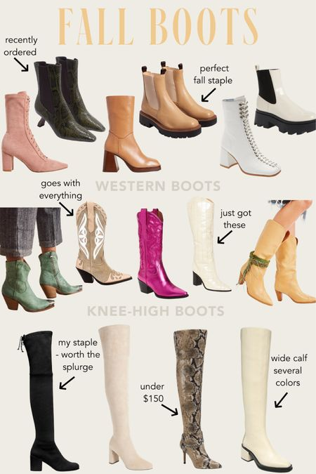 Fall sweaters trending now - chunky sole boots, booties, combat boots, lace-up boots, wide-calf boots, knee-high boots, western boots, cowboy boots!  #LTKshoecrush #LTKstyletip #LTKSeasonal